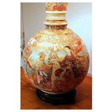 Early 19th Century Chinese Vase Transformed into Lamp. Priceless.