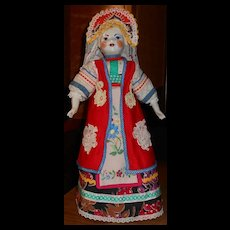 Ethnic Costumed Porcelain Doll