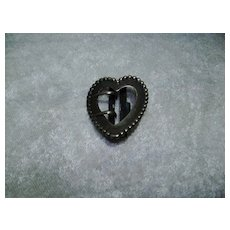 Vintage Sterling Heart Shaped Buckle
