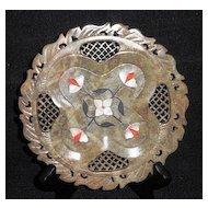 Vintage Pietra Dura Pierced Soapstone Plate