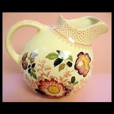 Mason's Ironstone China Ball Jug or Pitcher Pink Paynsley