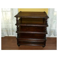 Victorian Shelves with Burled Walnut Drawer