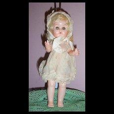 9 Inch Hard Plastic Walker Doll Krueger Tagged Dress