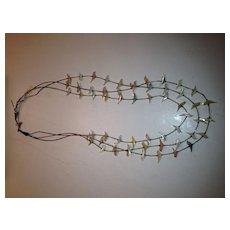 3 Strand Mother of Pearl Beaded Fetish Necklace