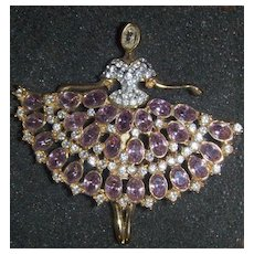 Beautiful Ballerina pin brooch