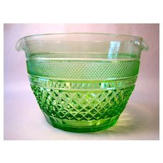 Green Cut Crystal Wine Rinser or Cooler