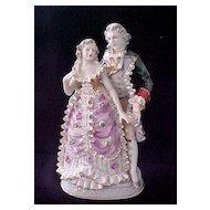 Vintage Colonial Couple Figurine