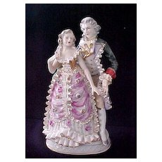 Vintage Colonial Couple Figurine
