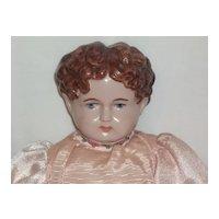 """Vintage Edith """"78"""" Brown Painted Hair Doll"""
