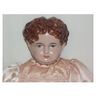 "Vintage Edith ""78"" Brown Painted Hair Doll"