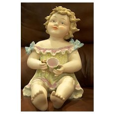 """14"""" Candsrea baby with tea cup"""