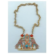 Vintage 70's Egyptian Revival Necklace