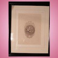 """19th cen. Greek Classic Black & White Engraving """"The Keepsake for 1831"""""""