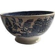 Blue Willow Cafe au Lait Bowl Societies Ceramique Maestricht Holland c.1900
