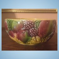 French Majolica Sarreguemines Fruit Bowl c.1910-1920
