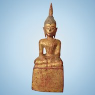 Old Hand Carved Wooden Figure, Thailand, Asian