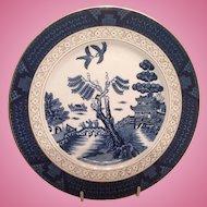 "Nikko Double Phoenix Blue Willow Occupied Japan 1945-1952 Dinner Plate 10"""