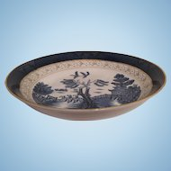 Nikko Double Phoenix Blue Willow Occupied Japan 1945-1952 Soup Bowl 7.5""