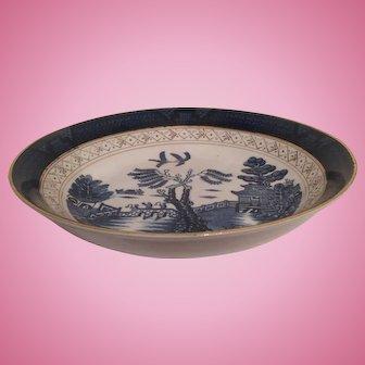 """Nikko Double Phoenix Blue Willow Occupied Japan 1945-1952 Soup Bowl 7.5"""""""