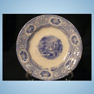 "Staffordshire 5 3/4"" plate ""Priory"" pattern c.1835"