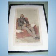 Antique Vanity Fair Print 9-17-1881 Original, Framed & Matted