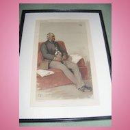 Antique Vanity Fair Print 9-17-1881 Original, Framed & Matted