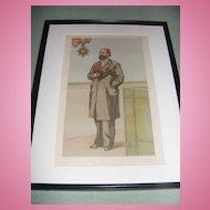 Antique Vanity Fair Print 1-6-1883  Original, Framed & Matted