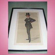 Antique Vanity Fair Print 4-12-1879 Original, Framed & Matted