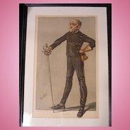 "Vanity Fair Fencing Print 8-13-1903 ""Cold Steel"" by Jest"