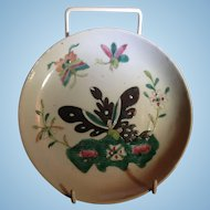 Antique Chinese Porcelain Dish Tongzhi Famille Rose Hand Painted Butterfly