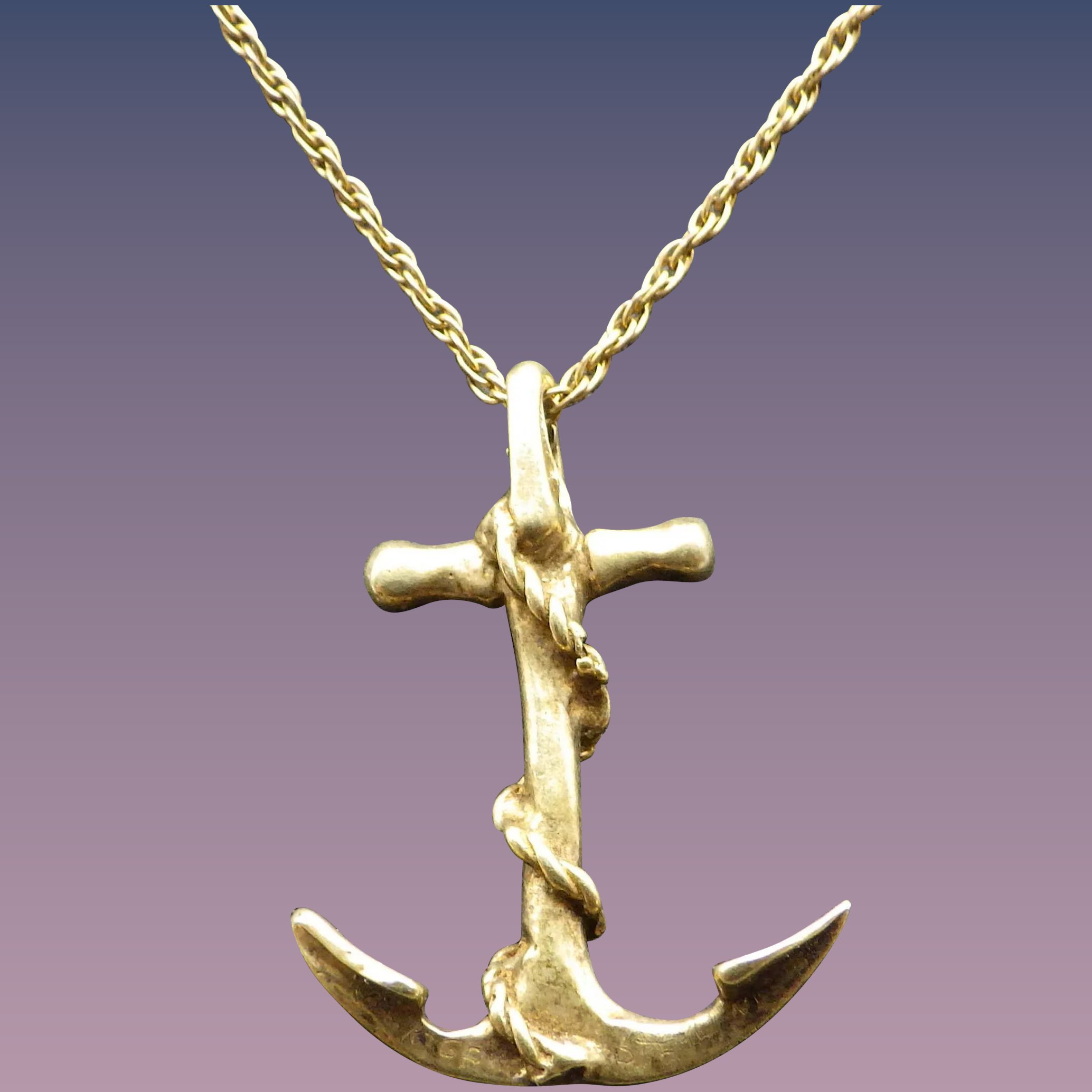 friends best pendant necklace striped chain s gold necklaces anchor tone claire