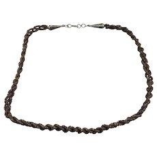 Santa Domingo Artist Handmade Heishi Shell Choker Necklace