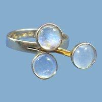 1972 Finnish Artist Olavi L. Wehmersuo, Handmade 14K Rose Gold Ring