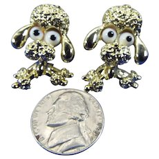 Gerry's Signed Pair of Big Eyed Poodle Pins, 1950s