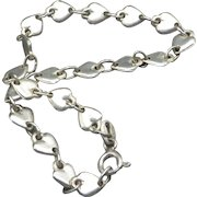 Vintage Sterling Silver Heart Bracelet, Made In Italy