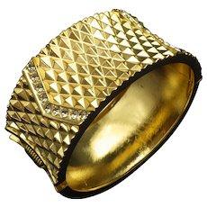 Vintage 1960s Clamper Bracelet, Bangle, Cool Mad Med Style, Unsigned Excellent Condition!