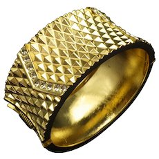 Vintage 1960s Clamper Bracelet, Bangle, Cool Mad Med Style, Unsigned Excellent Condition!