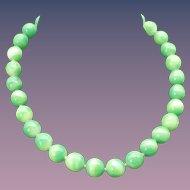 Vintage Japanese Handmade Peking Glass Choker Necklace 1940s