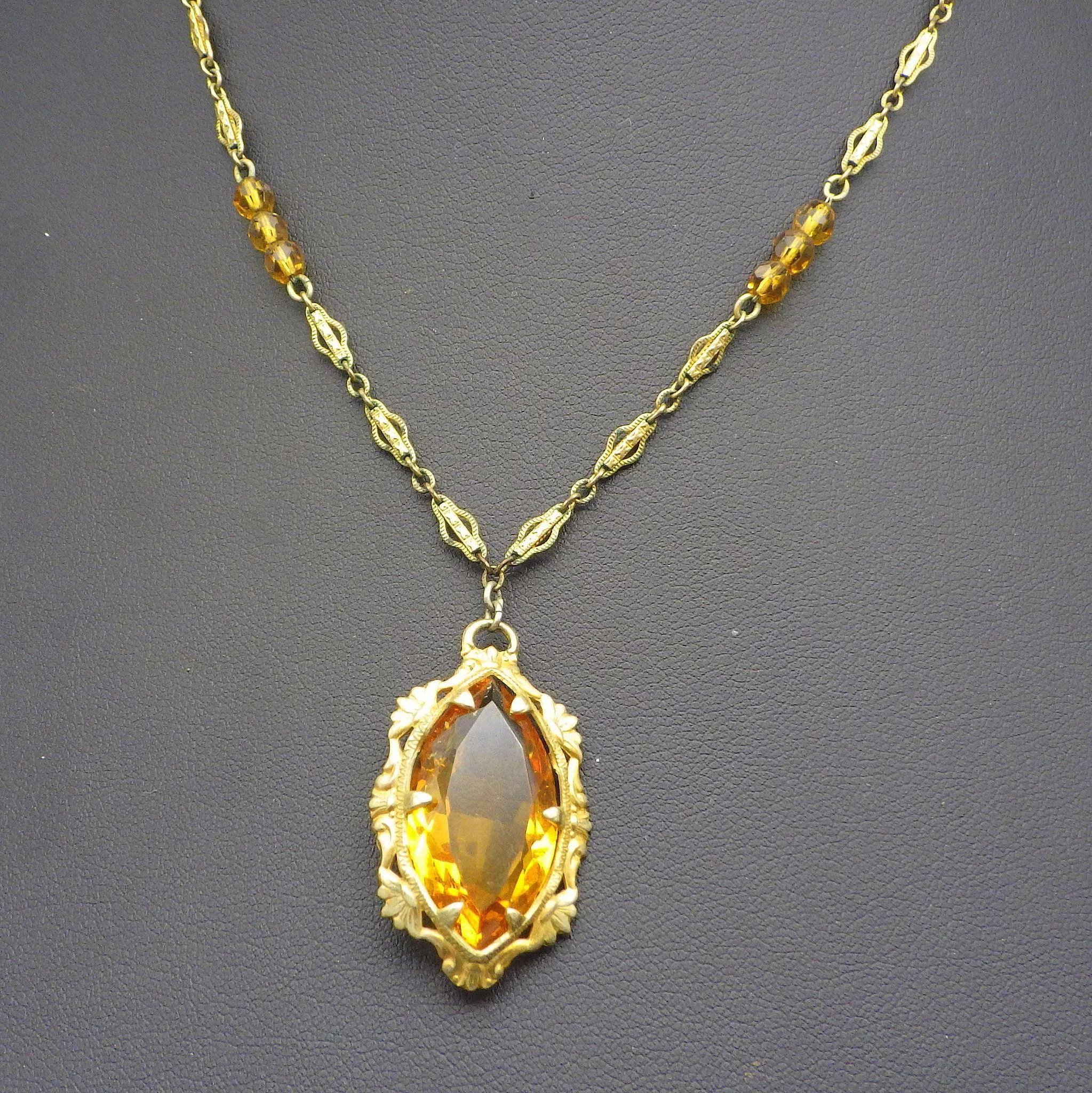 citrine flower necklace pendant product