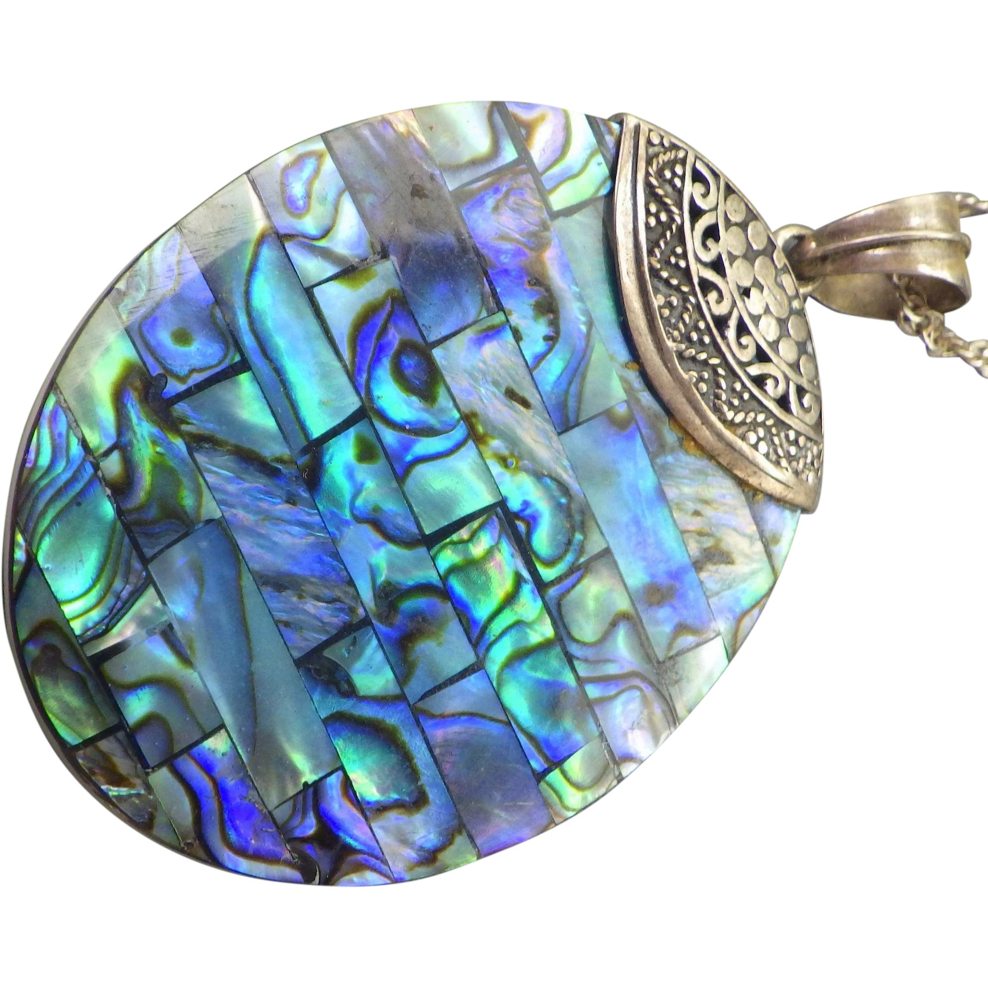 jewelry paua she shell chain pendant silver celtic products file original