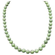 Vintage 1960s Nephrite Jade Set, Earrings, Bracelet, Necklace!