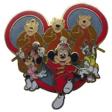 Vintage Limited Addition Disney Mickey Band Leader Pin Brooch!