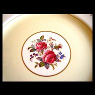 Five English Hand Painted Dinner Plates with Roses