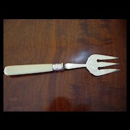 Antique English Silver-Plate Bread/Potato Fork