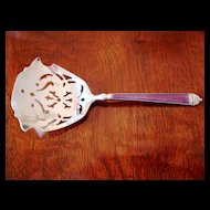 Sterling and Enamel Bon Bon Spoon