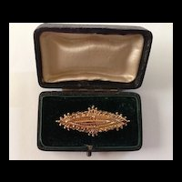 Antique c. 1893 9kt Gold Pin / Watch Fob