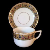 German Child's Cup and Saucer
