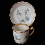 Antique Limoges Haviland  Demitasse Cup and Saucer c. 1876-1891
