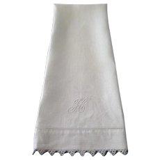 Victorian Linen Bath Towel