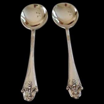 Pair of Hallmarked Sterling Jam spoons